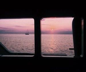 sunset, girl, and sky image