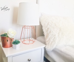 bedroom, copper, and decor image