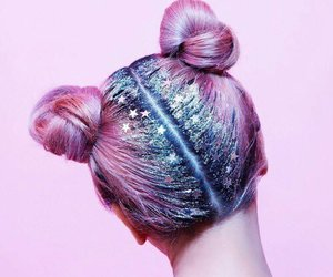 aesthetic, galaxy, and galaxy hair image