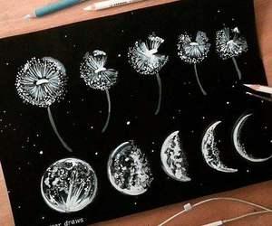 art, moon, and amazing image