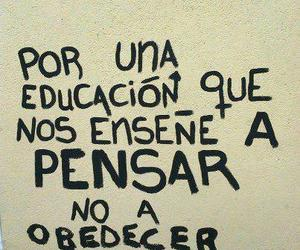 education, pensar, and frases image
