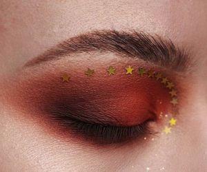 makeup, stars, and eyebrows image