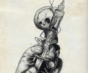 art, crane, and crayon image