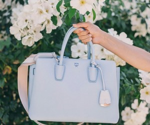 bag, blue, and flowers image