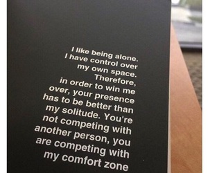 quotes, alone, and comfort image