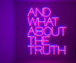 blue, neon, and truth image