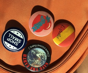 buttons, pins, and thrift shop image