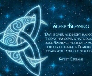 celtic, sleep, and blessings image
