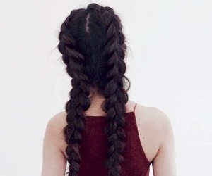 hair, braid, and beauty image