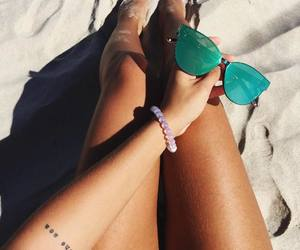 sand, sunglasses, and summer image