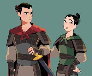 disney, mulan, and fan art image