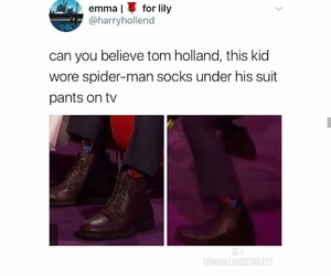 holland, spiderman, and Tom image