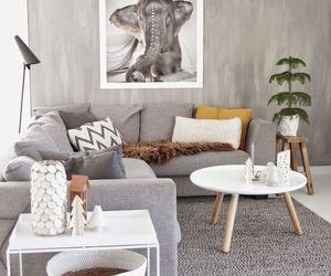 interior, decor, and grey image