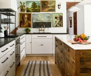 decor, kitchen, and wood image
