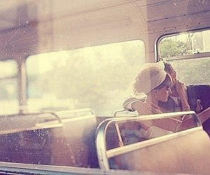 love, couple, and bus image