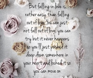 breakup, falling in love, and falling out of love image