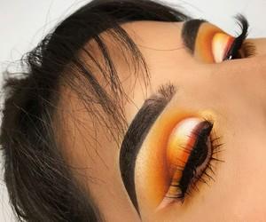 cosmetics, orange, and yellow image