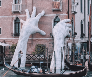 venice, art, and hands image