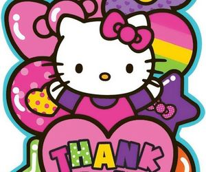 colors, hello kitty, and birthay image