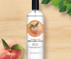 peach, perfume, and the body shop image