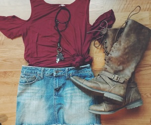 boots, clothes, and clothing image