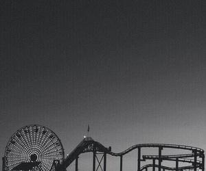 amusement park, moon, and vintage image