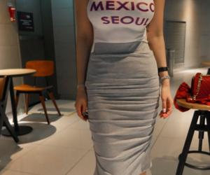 kfashion, long skirt, and top image