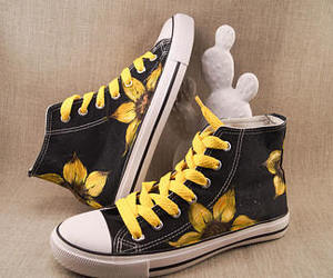 all star, converse, and custom shoes image