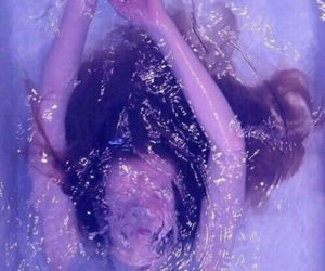 girl, water, and purple image