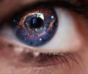 galaxy, eyes, and beauty image