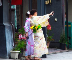 japan, saitama, and yukata image