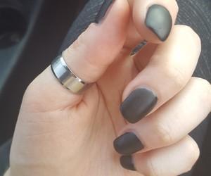 alternative, black, and black nails image