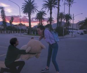 love, couple, and teddy bear image