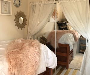 bed, decor, and dorm image