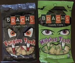 candy, vampire teeth, and brachs image