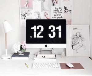 artist studio, artwork, and home office image