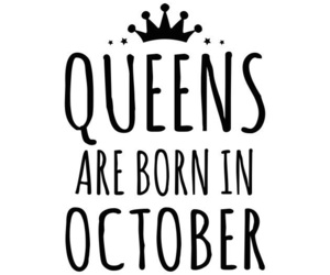 birthday, crown, and october image