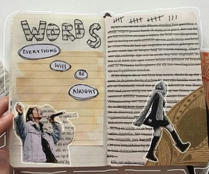 art, art journal, and journal image