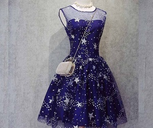blue, dress, and fashion image