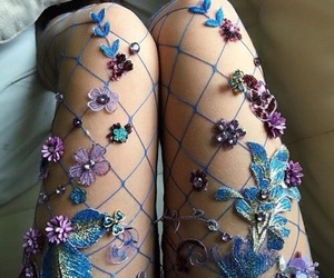 fashion, flowers, and blue image