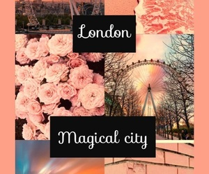 london, pink, and wallpaper image