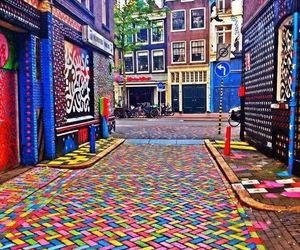 amsterdam, street, and colors image