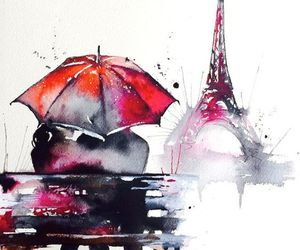 paris and watercolors image