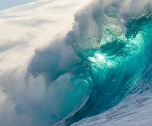 wave, nature, and sea image