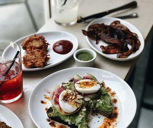 avocado, bacon, and breakfast image