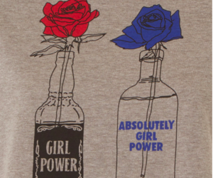 absolute vodka, blue, and flower image