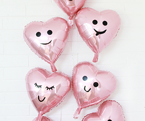 balloons, happy, and heart image