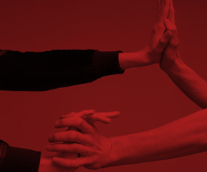 hands, red, and love image