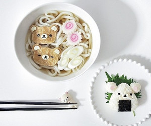 food, kawaii, and rilakkuma image