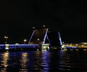 beautiful, night, and river image